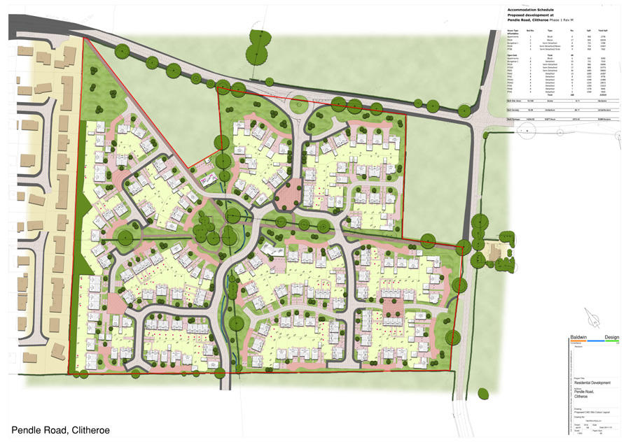 Phase One Layout for Pendle Road Clitheroe