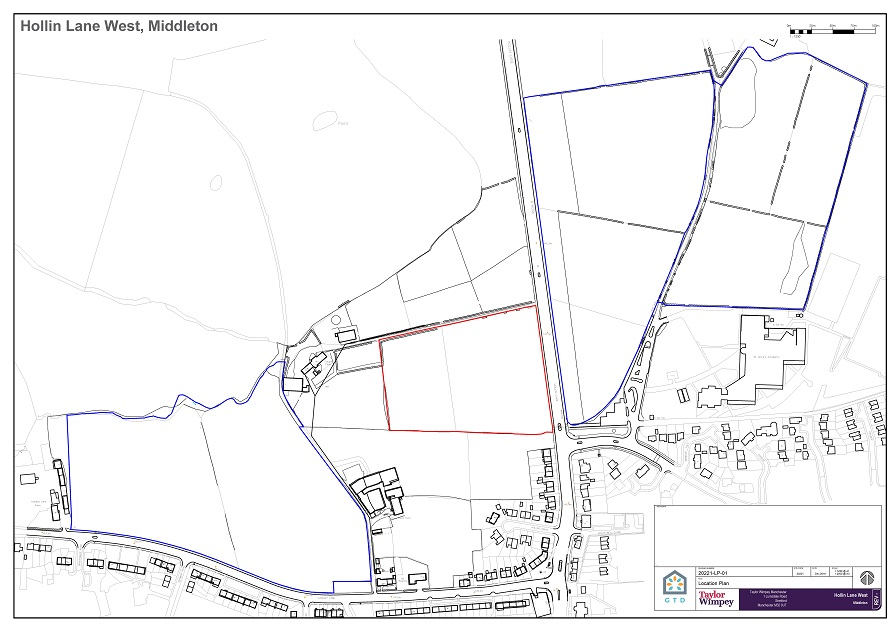 Land West of Hollin Lane - Location Plan