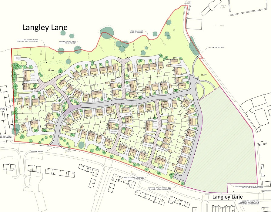 Proposed development off Langley Lane, Rochdale