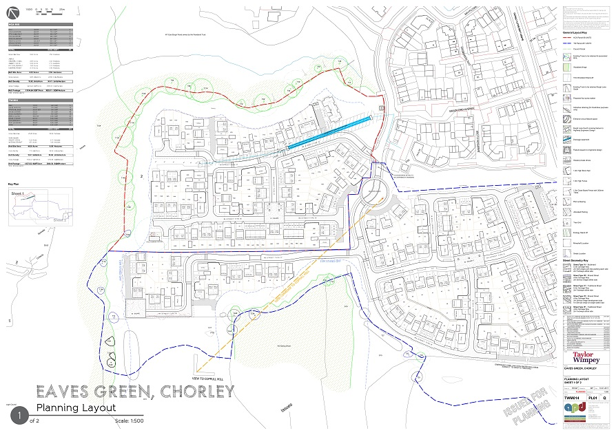 Proposed layout for Lower Burgh Way, Chorley
