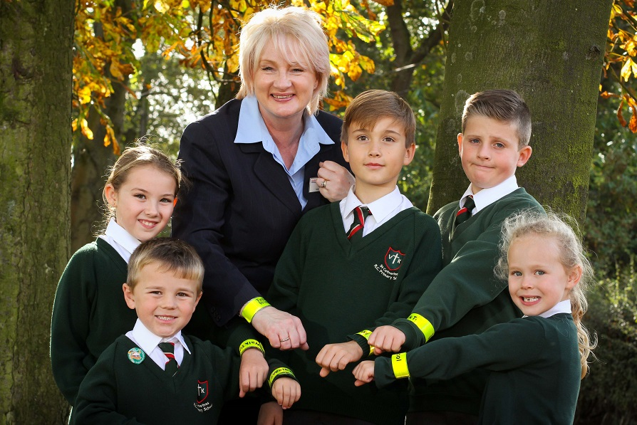 Walk to school month for St Catherine's Catholic Primary School Chorley