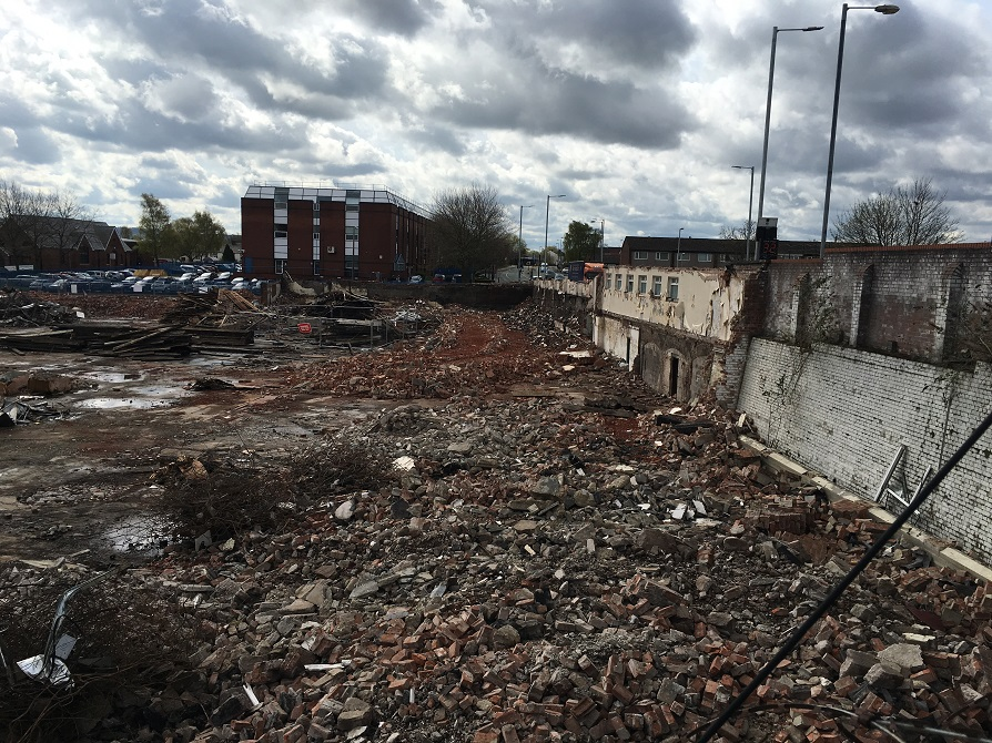 Demolition of exisiting buildings at Martin Street Audenshaw