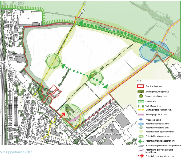 Site Opportunities Plan for Rothwells Farm