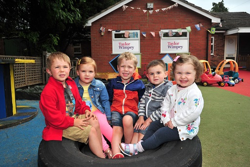 Roundabouts Day Nursery in Shavington is getting a garden revamp thanks to Taylor Wimpey Manchester