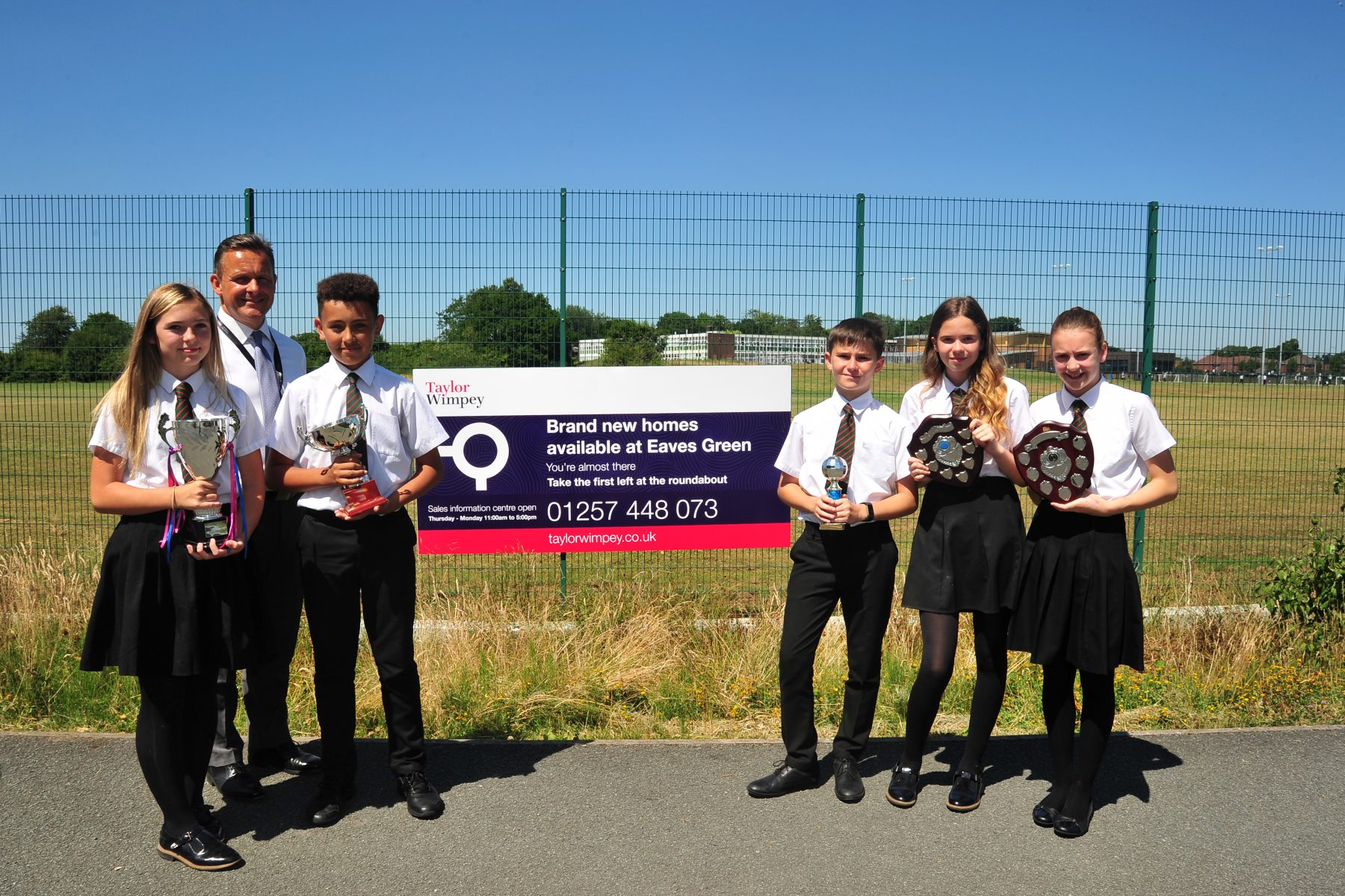 Leading homebuilder Taylor Wimpey Manchester has donated 700 to Holy Cross Catholic High School for
