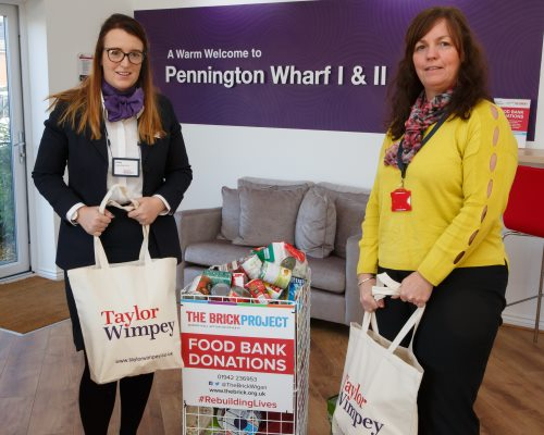 Ashley from Taylor Wimpey Manchester with Janet Mitchell from The Brick