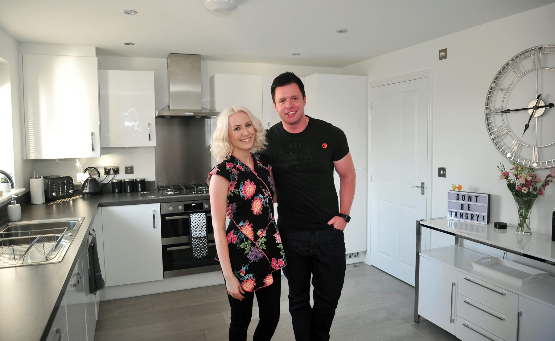 It was all about the personal touch for first time buyers Rob Knowles and Holly-Jane Kershaw