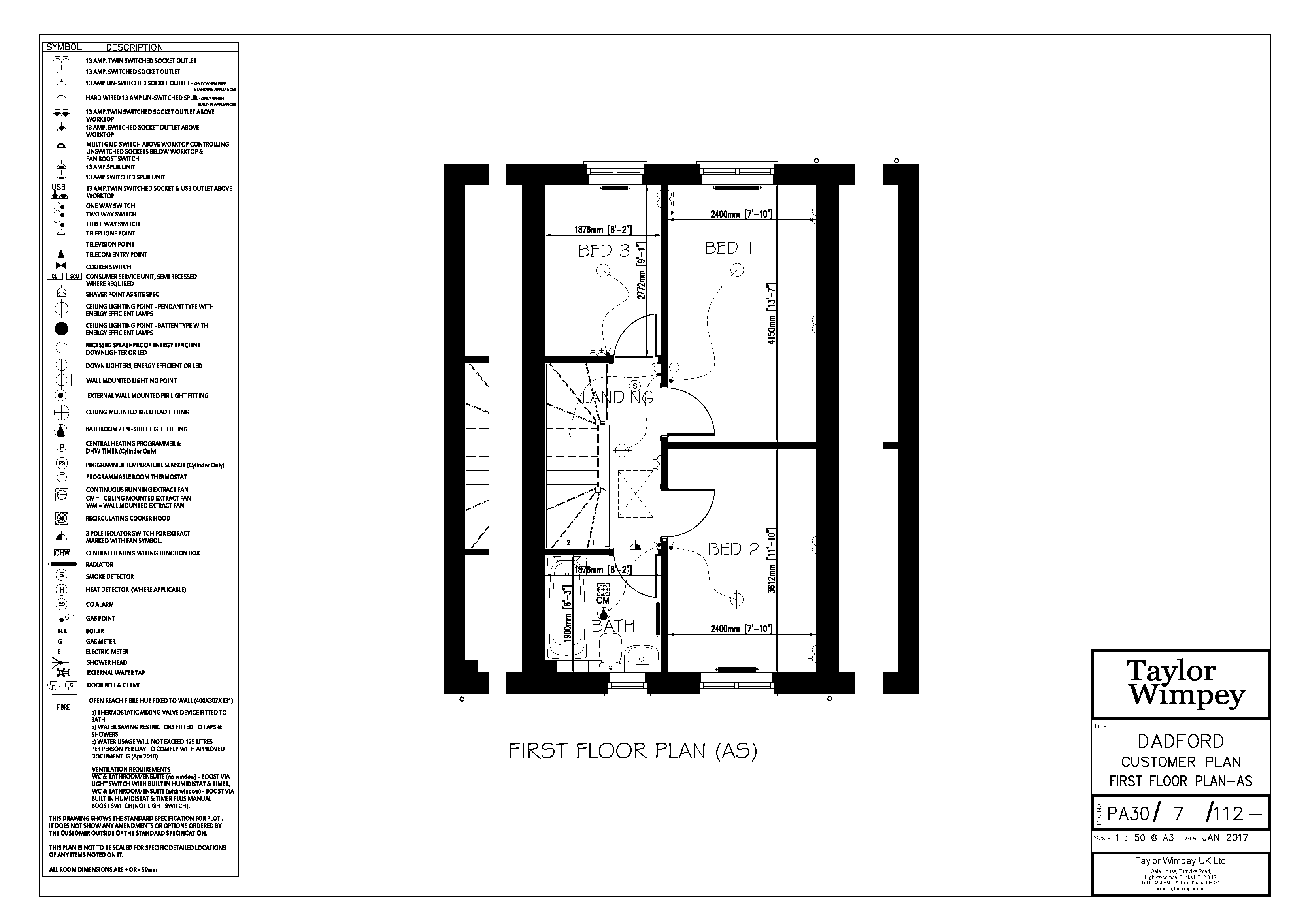 PA307202127112 FF CUSTOMER PLAN AS PA30 DADFORD FIRST FLOOR PLAN AS A3 rev