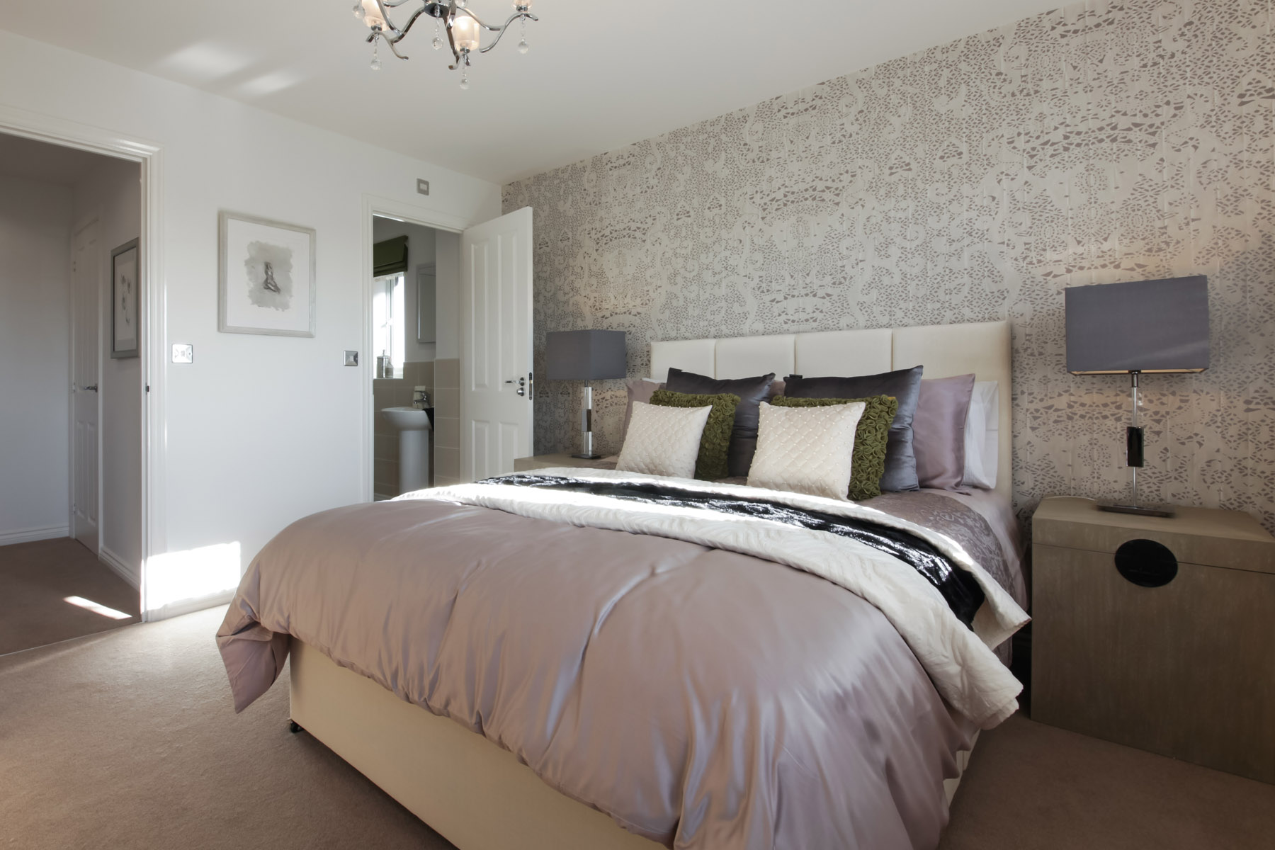 Lavenham bedroom with ensuite in view