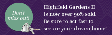 Highfield Gardens II  Over 90 Sold Banner