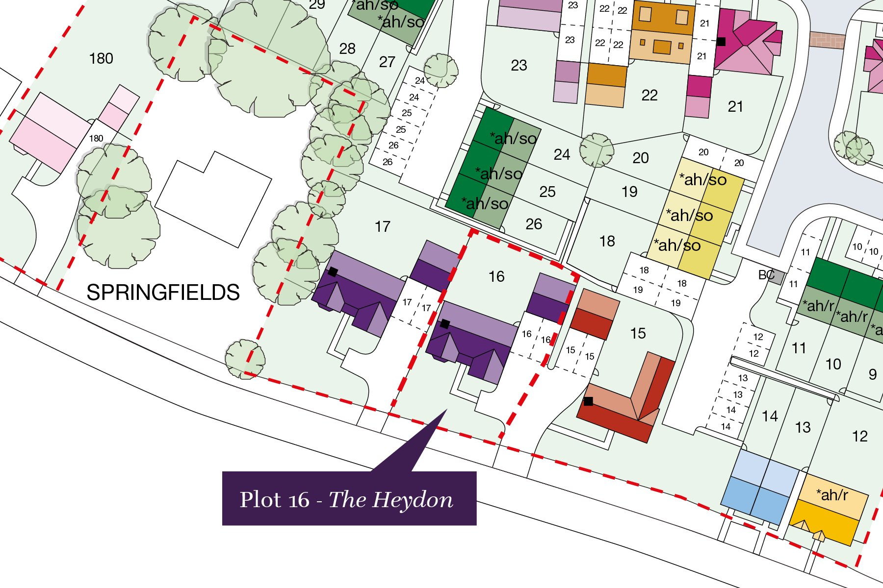 Wheatfield Manor - Plot 6 Site Plan Graphic