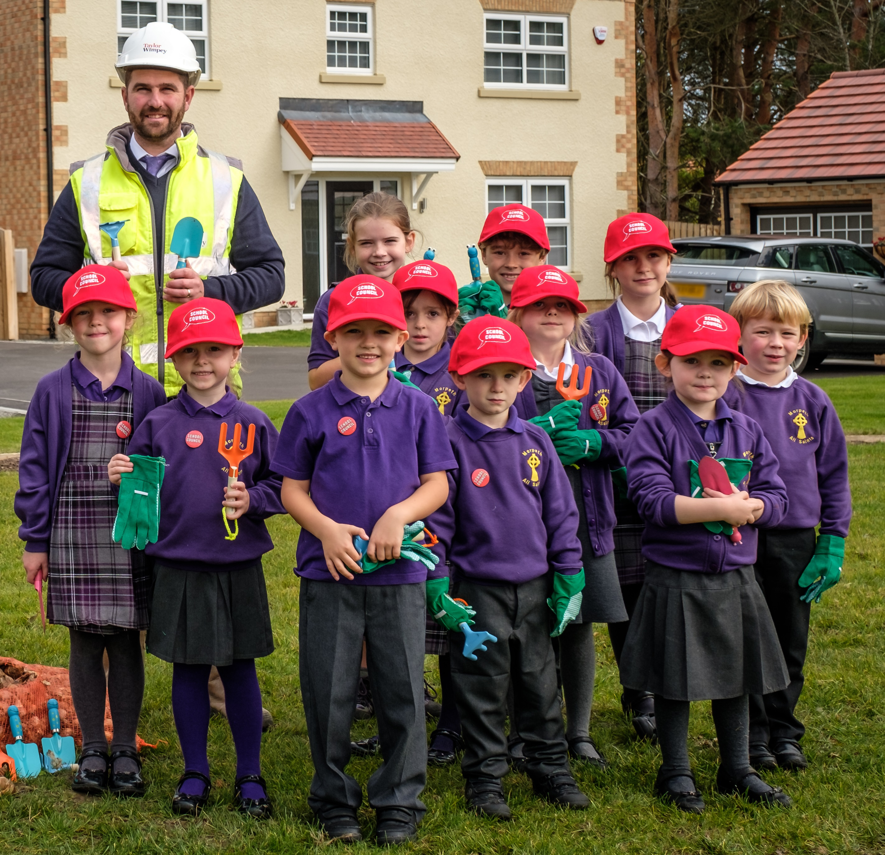 Pupils from Morpeth All Saints C of E First School in Morpeth have been getting greenfingered by pla