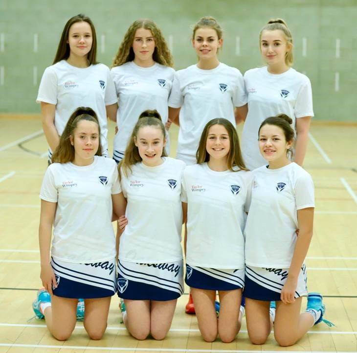 Oaksway U14s netball team is sponsored by Taylor Wimpey (002)
