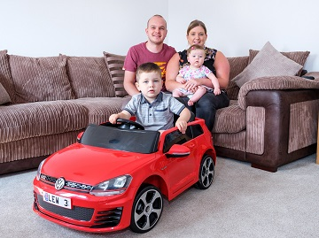 WEB  A local Cumbria family have purchased their first home at Taylor Wimpeys The Coppice developmen