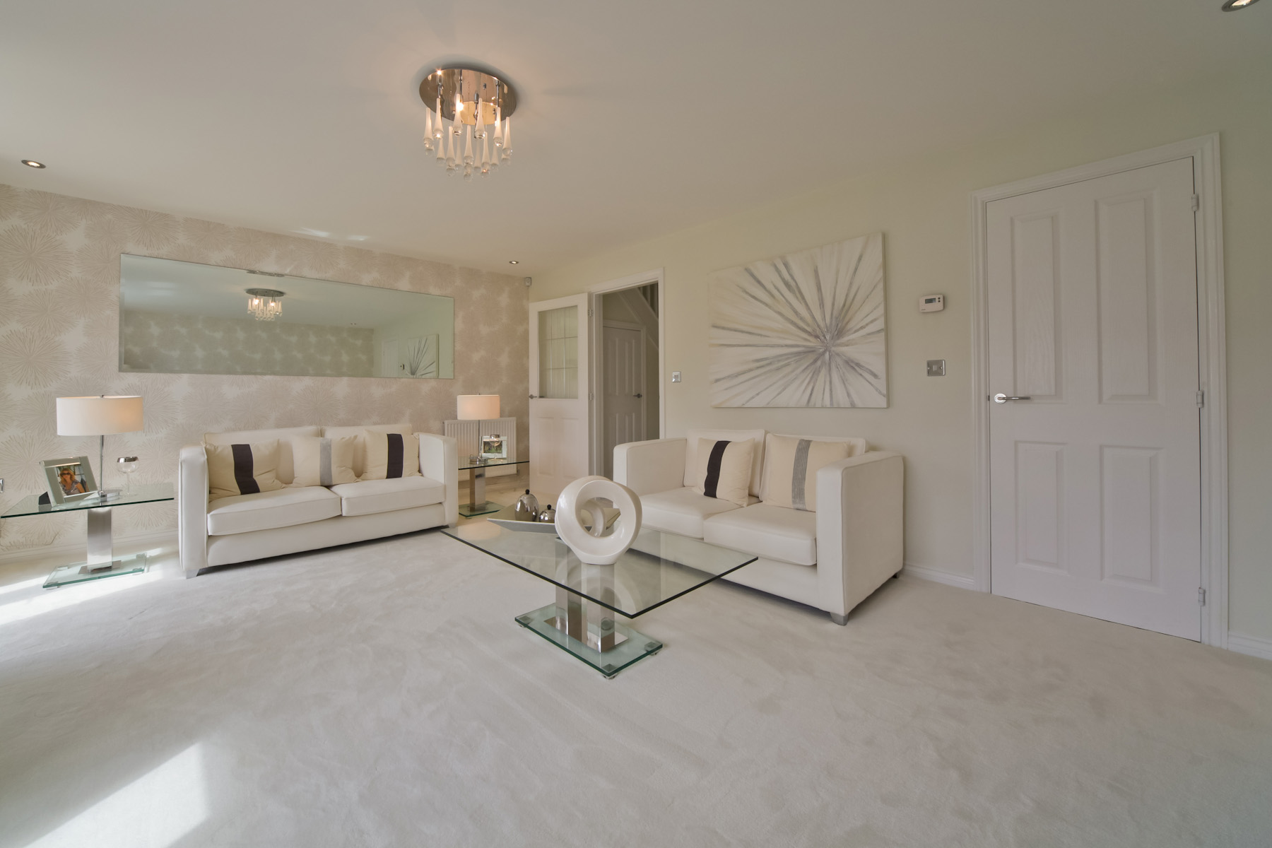 Hele Park Kempsford example living room