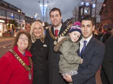 Taylor Wimpey sponsorship Borehamwood Christmas light switch on - Website