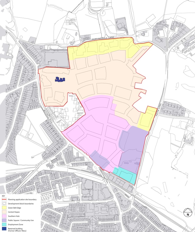 millbrook park parameter plan character areas final
