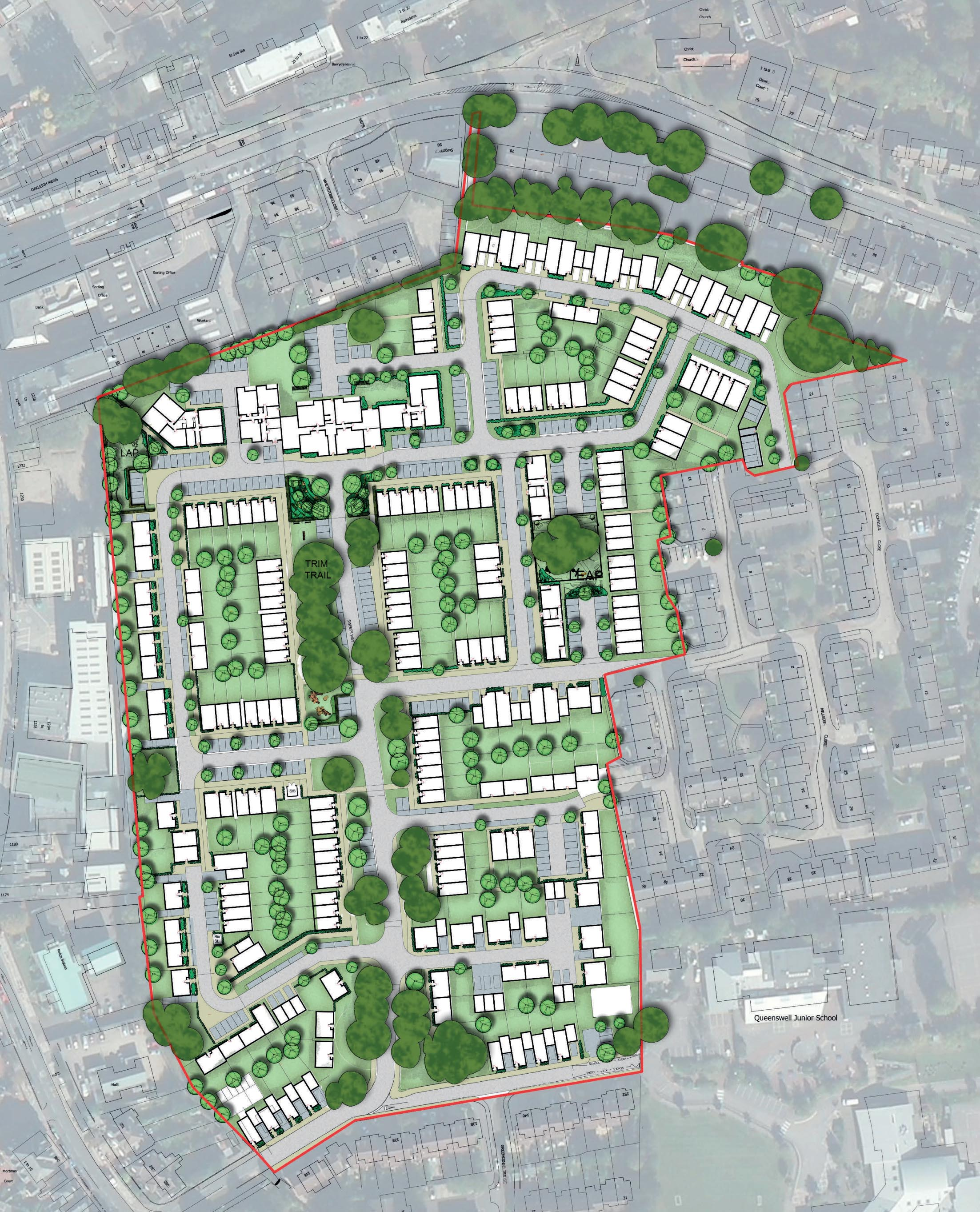 Sweets Way Park - Layout Plan