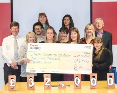 Taylor Wimpey - Hertfordshire Blind donation
