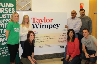 TWNT - Macmillan charity cheque handover v2
