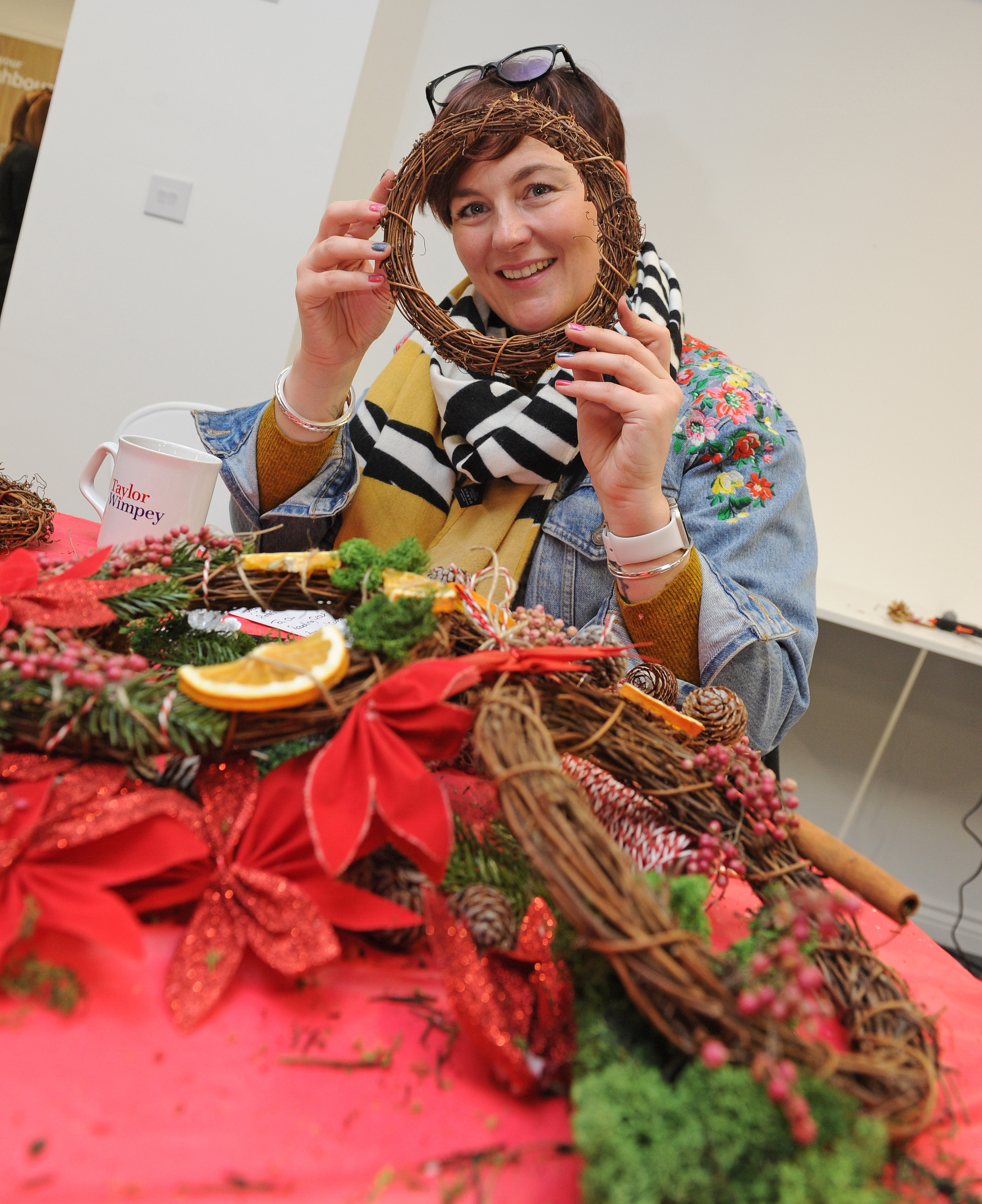 Visitors took part in wreath making and enjoyed mulled wine and mince pies