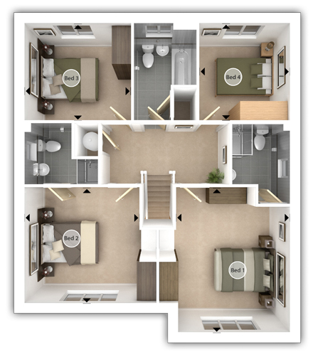Haddenham First Floor Plan