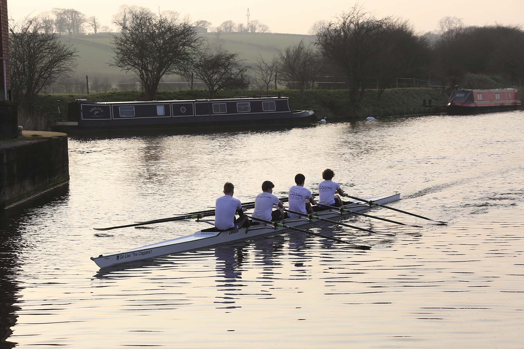Rowers on the River Weaver