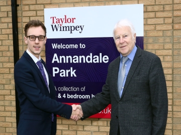 WEB Ryan Porteous Taylor Wimpey sales executive with Ian Johnson chairman