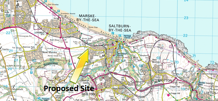 Saltburn overview map