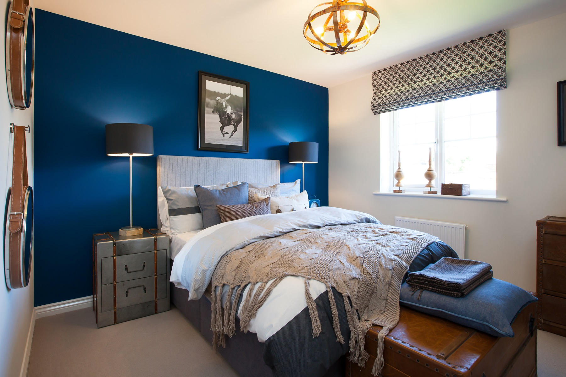 Doube bed blue 2