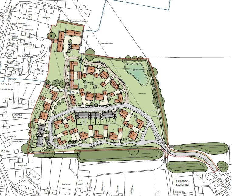 Bloxham Planning Layout Rev K