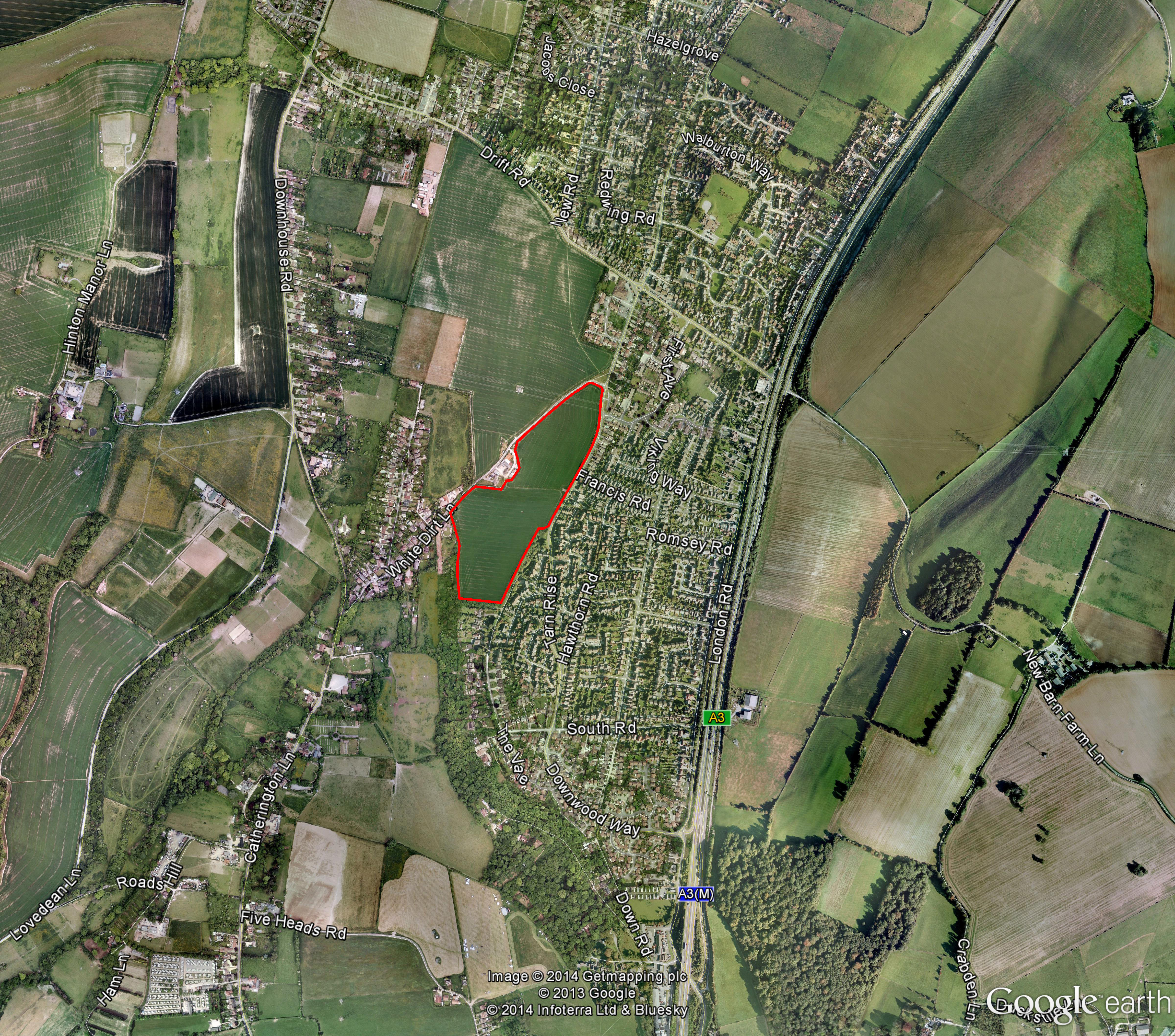 Clanfield aerial plan