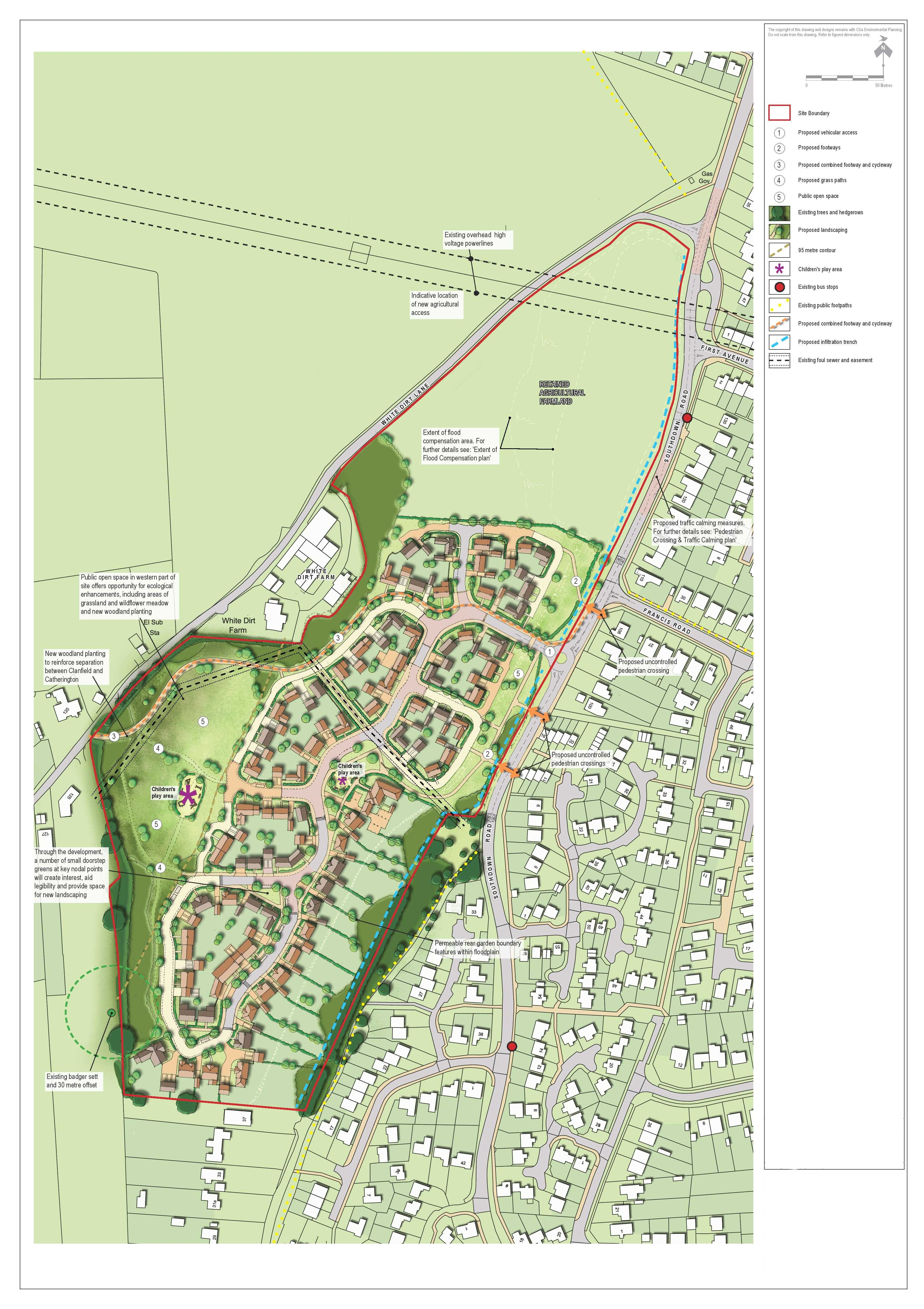 Horndean Illustrative Masterplan Rev F-page-001