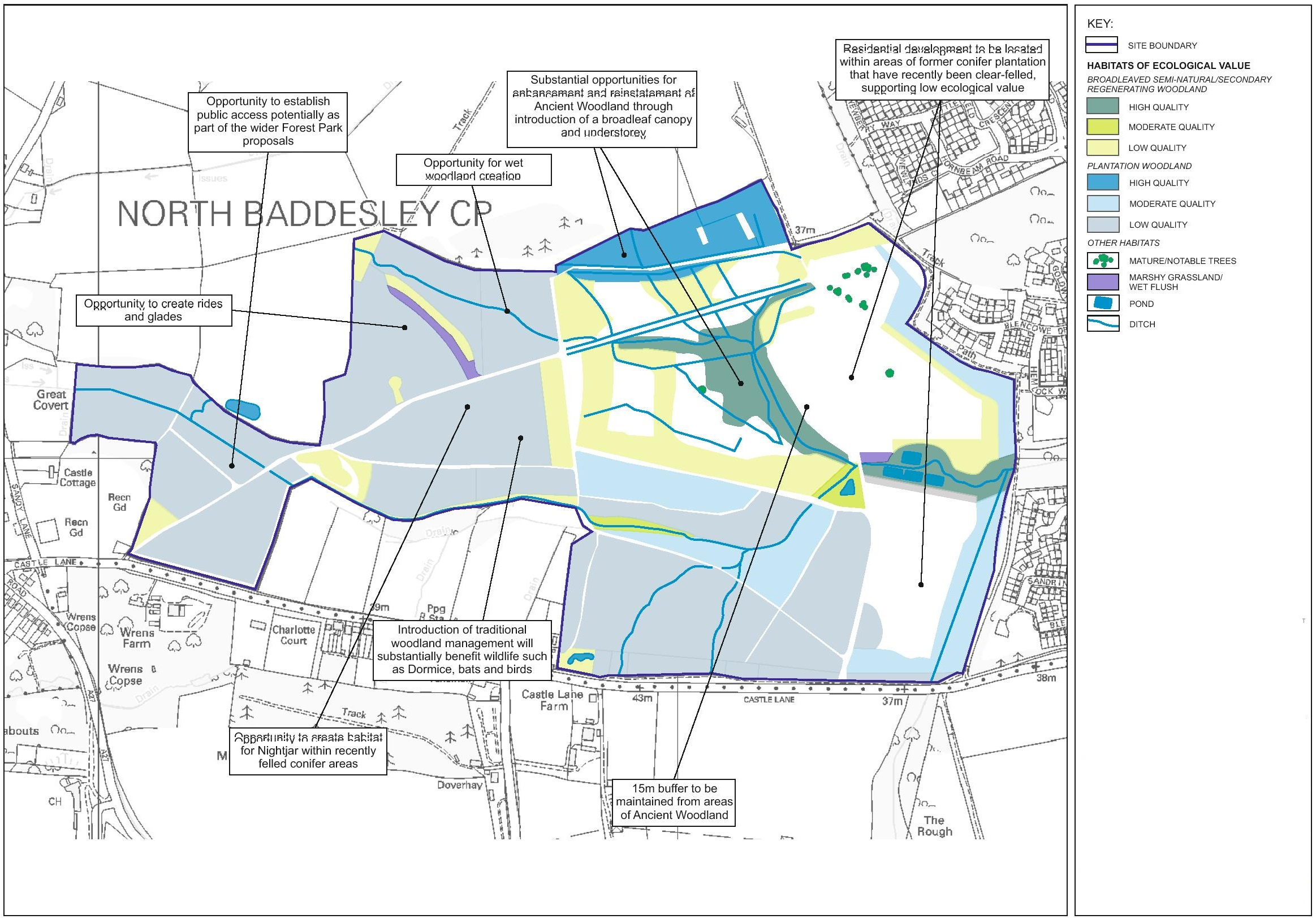 Board 3 - North Baddesley ecology plan
