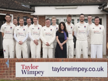 Tenterden Cricket Club with Taylor Wimpey Sales Executive Ella Bishop WEB