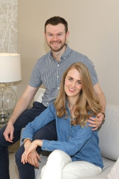 WEB  Homeowners John and Laura in the showhome at the Limes development