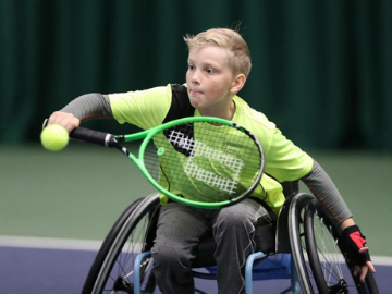 We are proud to support future wheelchair tennis star