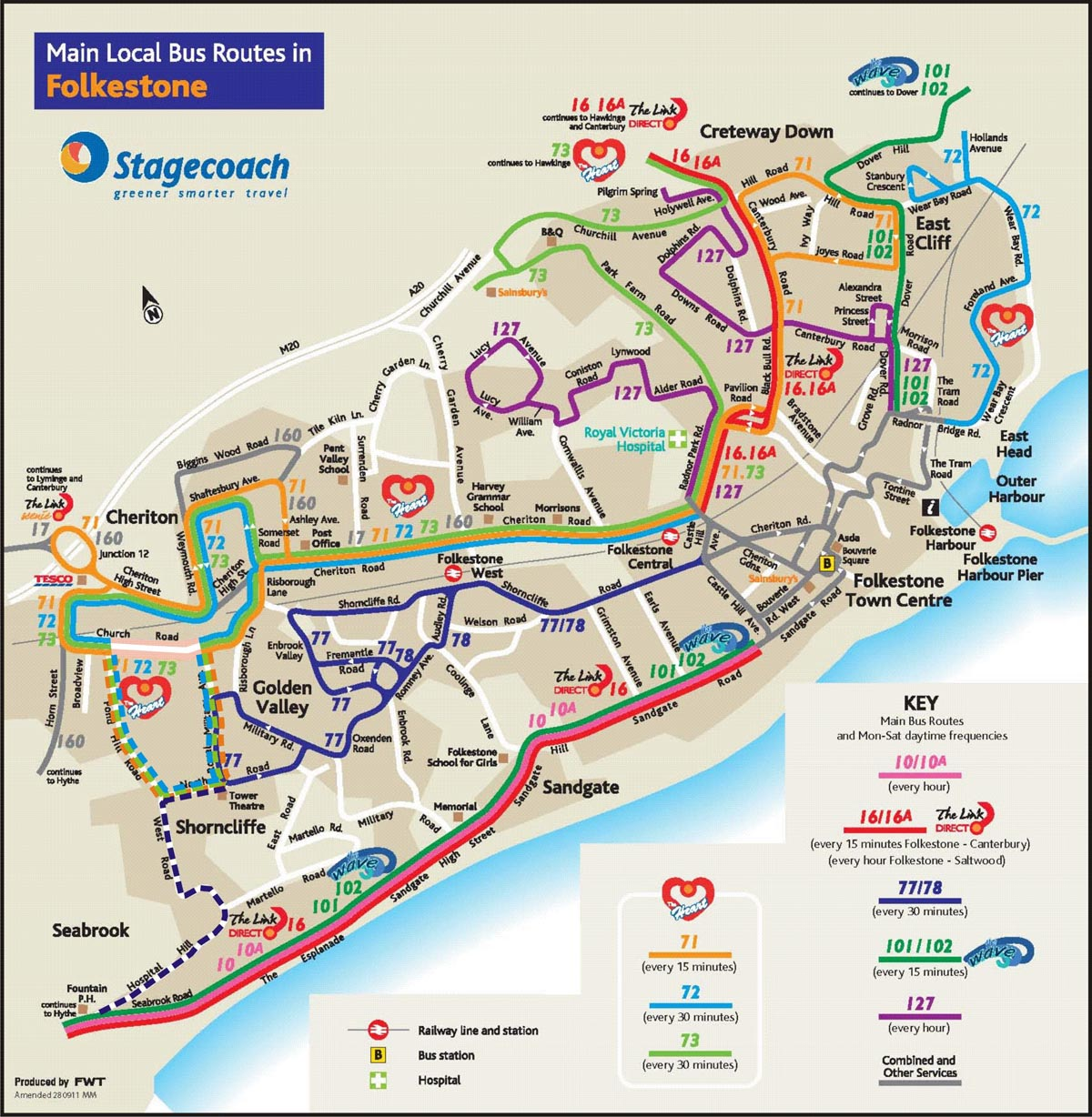 Shorncliffe Bus Routes