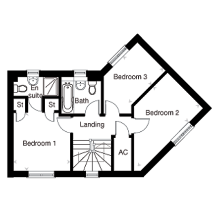 The Charleston first floor plan