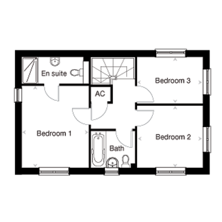 The Easedale first floor plan