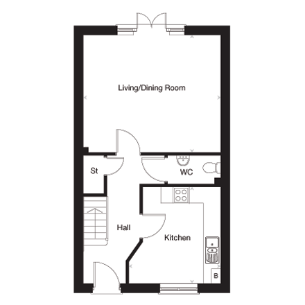 The Easton G ground floor plan