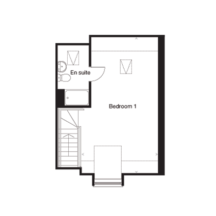 The Easton G second floor plan