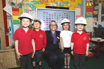 Image 1 -Taylor Wimpey - Hurst Green Infant School - whiteboard donation