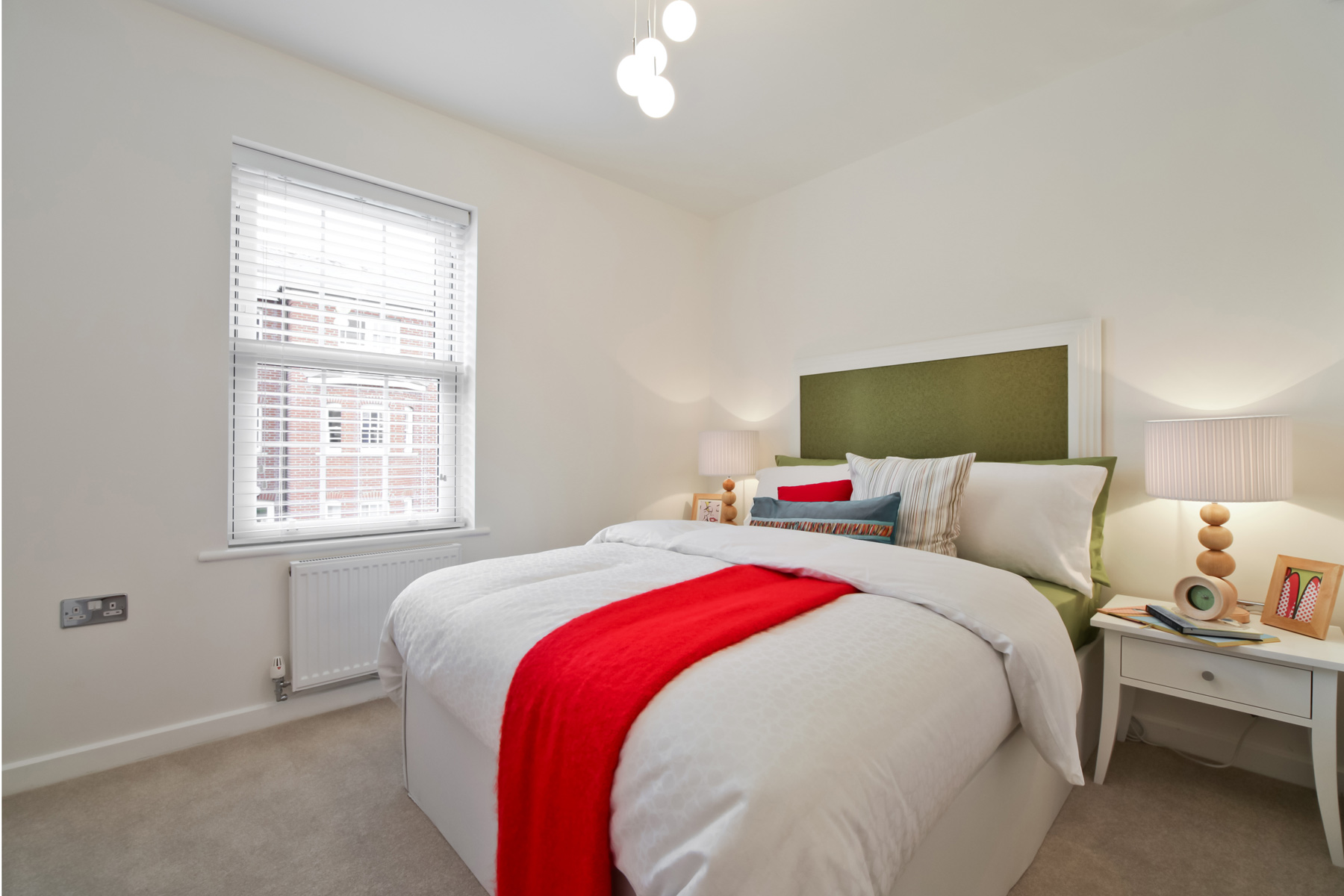 Typical Taylor Wimpey apartment second bedroom.