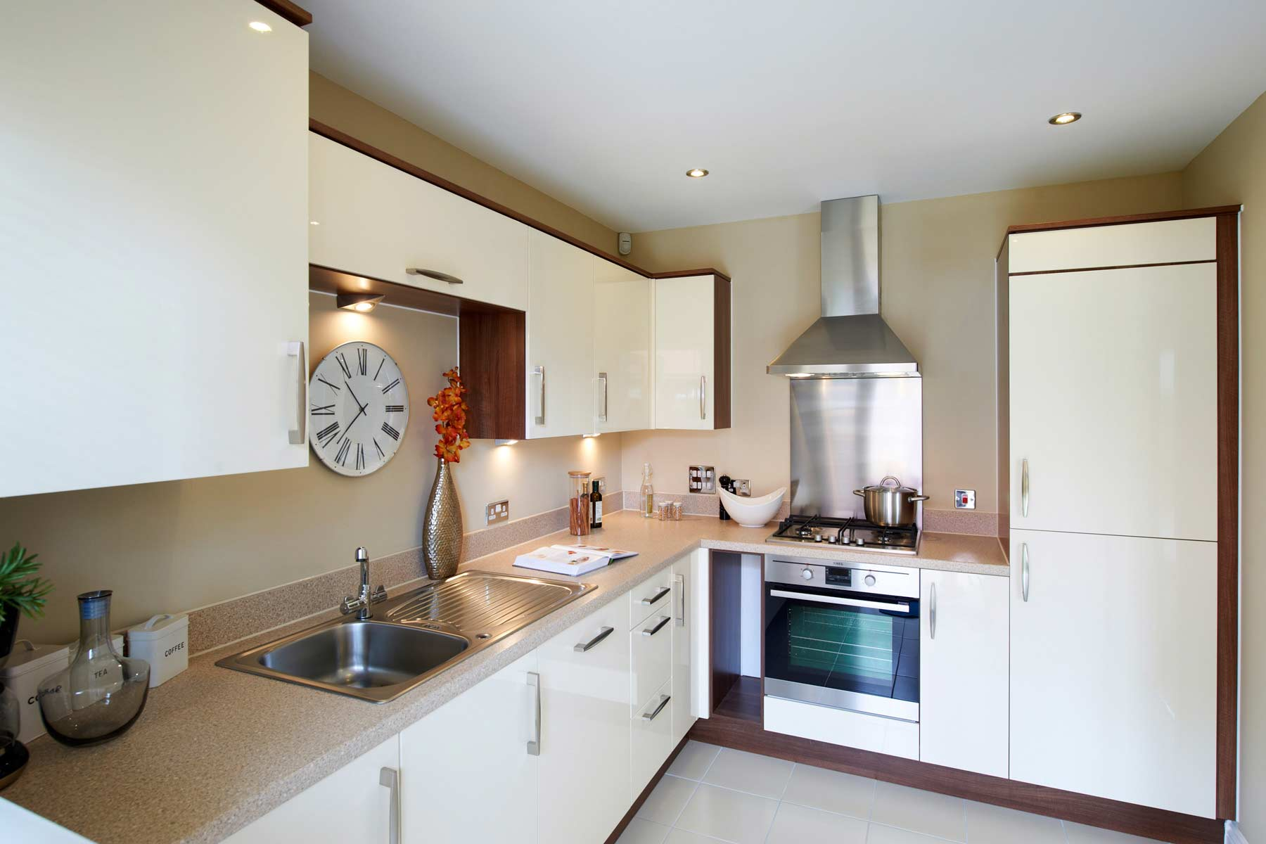 A typical Taylor Wimpey kitchen.