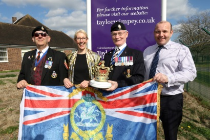 Taylor Wimey - Howe Barracks - Flag pole donation