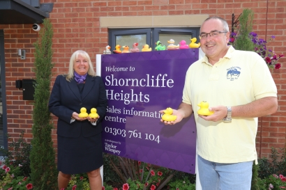 Taylor Wimpey - Shorncliffe Heights - duck race donation