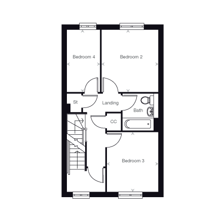 The Easton first floor plan