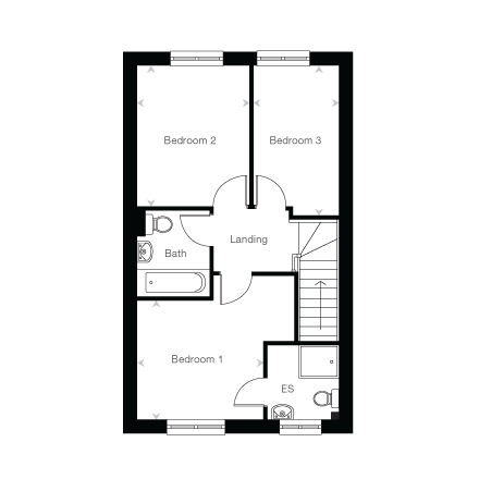 The Gosford first floor plan