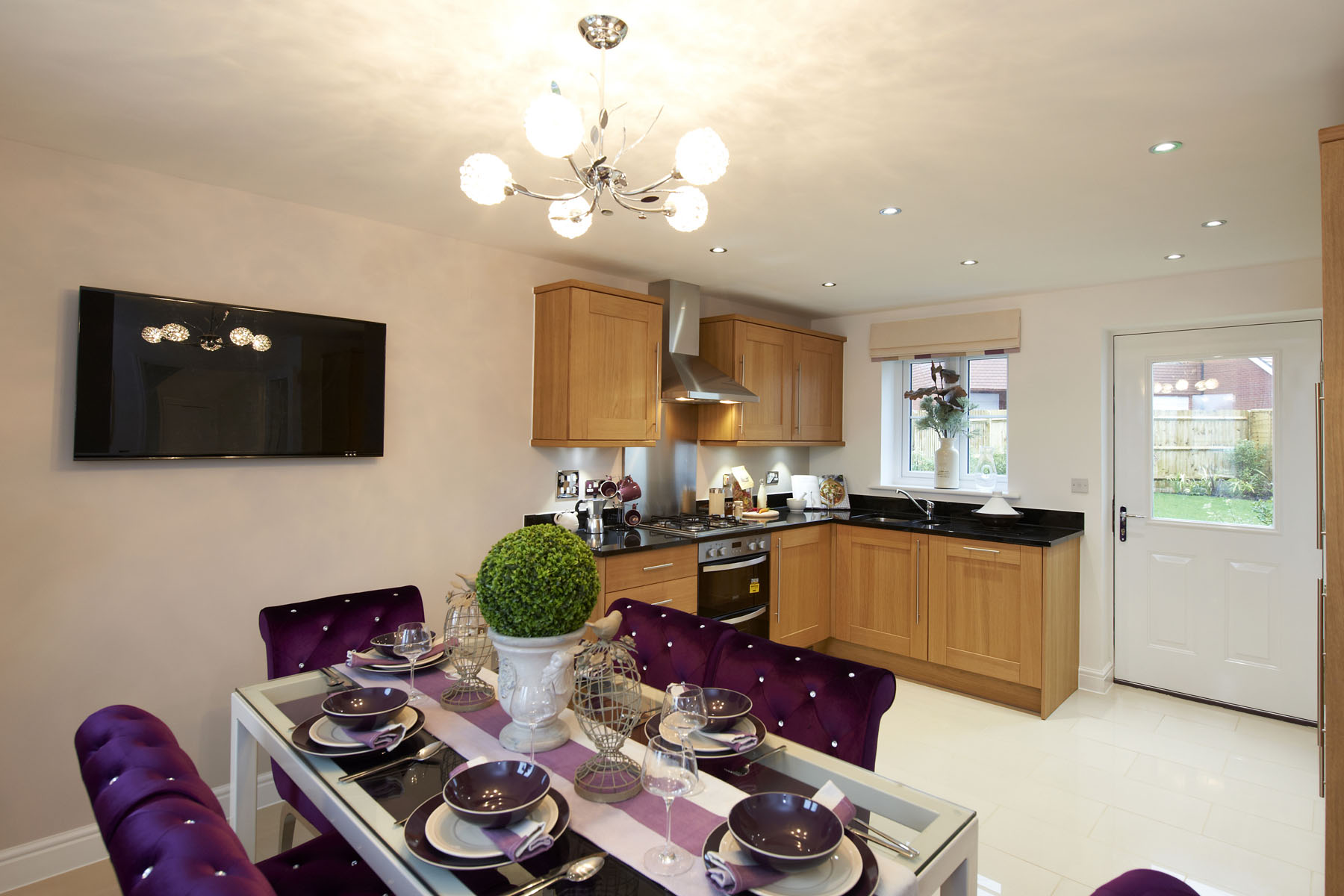 A typical Taylor Wimpey kitchen/dining area